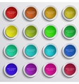 modern colorful circle banners set on gray vector image