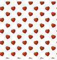 nice background pattern of hearts vector image