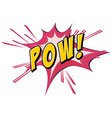Pow flash on white vector image