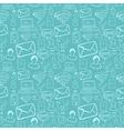 Social media cartoon icons pattern vector image