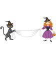 witch banner vector image