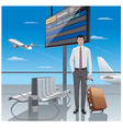 young man traveler vector image