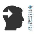Head Plug-In Arrow Icon With Air Drone Tools Bonus vector image