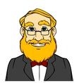 Smiling man with orange beard vector image vector image