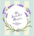 the lavender wreath vector image vector image
