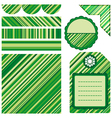 Geometric pattern card and tag design vector image
