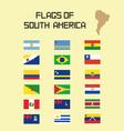 Flags SA vector image