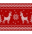 Red knit with goat seamless pattern tile vector image vector image