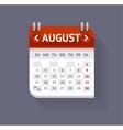 Calendar August Flat Design vector image
