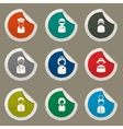 Ocupation simply icons vector image