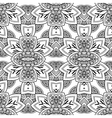 Seamless Monochrome Ornate vector image