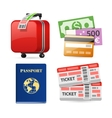 Colorful Travel Planning Icons vector image