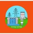 Energy savings concept with bulb vector image