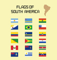 Flags SA vector image