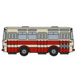 old red city bus vector image