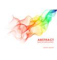 rainbow wavy background vector image