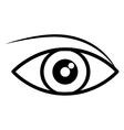 silhouette black eye flat icon vector image
