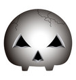 isolated skull icon vector image