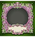 Vintage Floral Spring Frame vector image