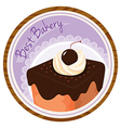 A best bakery label with a cake vector image vector image