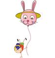 A stickman with a balloon vector image vector image