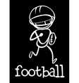 A football player vector image vector image