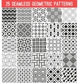 Universal different seamless patterns vector image vector image