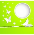 background with butterflies paper vector image