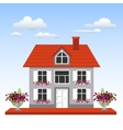 House on a blue sky background vector image