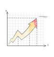 line graph representing data vector image