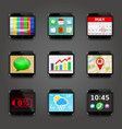 set of app icons in mobile phone style vector image