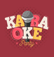 karaoke label sign design with microphone vector image