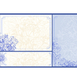 Three Floral frames vector image