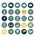 icons plain round ui program vector image vector image