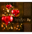 valentines day flayer vector image vector image