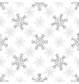 Seamless christmas white pattern vector image vector image