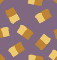 bread seamless pattern Food background vector image