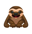 happy cute sloth vector image