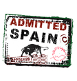 Immigration Stamp Spain vector image
