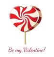 lollipop heart vector image