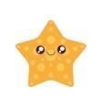 sea star kawaii cute icon vector image