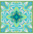 Square floral paisley pattern vector image