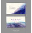 template business card with a watercolor imitation vector image