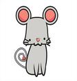 Cute Mouse Cartoon eps10 vector image