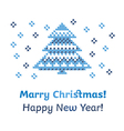 peasant folk rustic motif of christmass tree cross vector image vector image