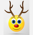 Reindeer emoticon emoji smiley vector image