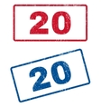 20 Rubber Stamps vector image