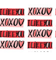 seamless pattern hand written doodle xo xo vector image