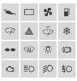 balck car dashboard icons set vector image