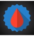 Medical Blood drop Flat Icon vector image